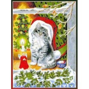 Рождественский котёнок Набор для вышивания Kustom Krafts 99677