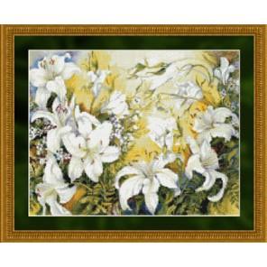 Белые лилии Набор для вышивания Kustom Krafts 99617