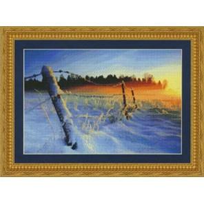 Зимний закат Набор для вышивания Kustom Krafts 98777