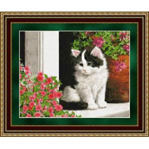 Котенок на крыльце Набор для вышивания Kustom Krafts 98027