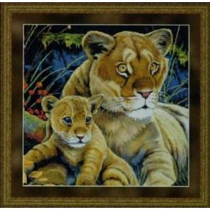 Львица с детенышем Набор для вышивания Kustom Krafts 99877