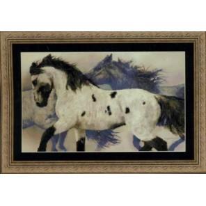 Дикие лошади Набор для вышивания Kustom Krafts JL-002K