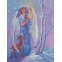 Ангел зимы Набор для вышивания Kustom Krafts