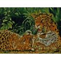 Играющие леопарды Набор для вышивания Kustom Krafts
