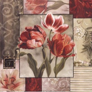 Пестрые тюльпаны Набор для вышивания Kustom Krafts 99487