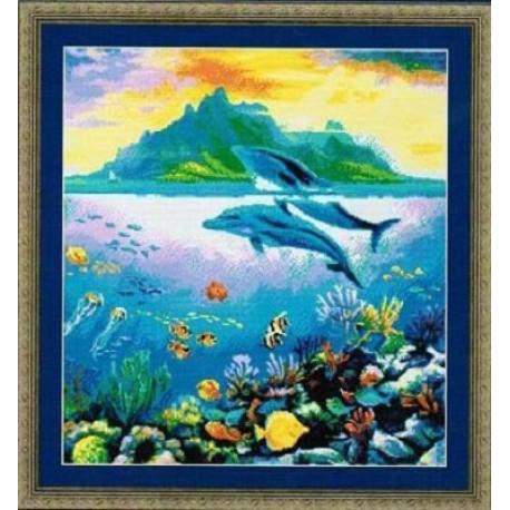 Рай дельфинов Набор для вышивания Kustom Krafts 98517