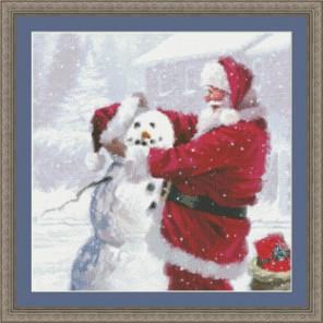 Санта и снеговик Набор для вышивания Kustom Krafts 97697