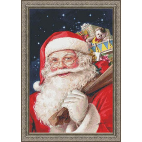 Санта Набор для вышивания Kustom Krafts 97097