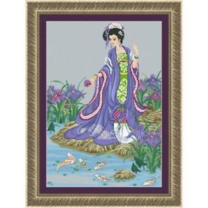 Девушка у пруда Набор для вышивания Kustom Krafts 18107