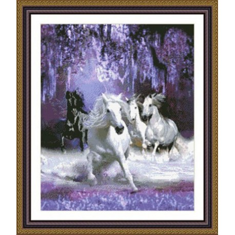 Лошади в ночи Набор для вышивания Kustom Krafts 98967