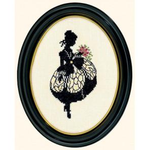 Дама с букетом (силуэт) Набор для вышивания Eva Rosenstand 12-494
