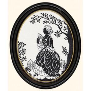 Дама с веером (силуэт) Набор для вышивания Eva Rosenstand 12-375