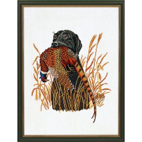 Собака и фазан Набор для вышивания Eva Rosenstand 12-883