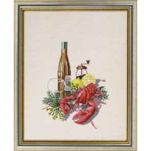 Вино и лобстер Набор для вышивания Eva Rosenstand 12-604