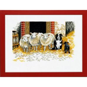 Овцы и собака Набор для вышивания Eva Rosenstand 14-107