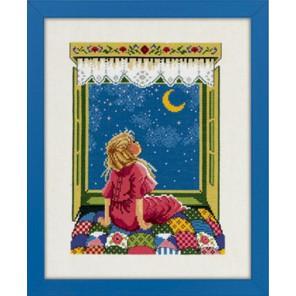 Девочка и звезды Набор для вышивания Eva Rosenstand 14-142