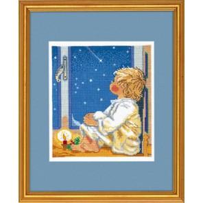 Мальчик смотрящий на звезды Набор для вышивания Eva Rosenstand 94-059