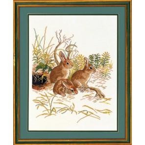 Три кролика Набор для вышивания Eva Rosenstand 12-972