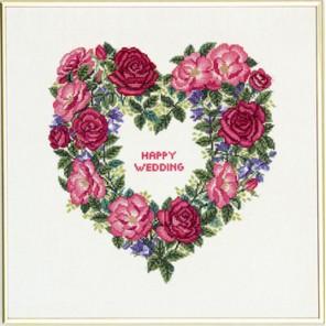 Сердце из роз Набор для вышивания Eva Rosenstand 12-840