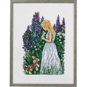 Девушка со щенком Набор для вышивания Eva Rosenstand 14-366