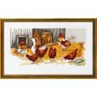 Курицы и гусь Набор для вышивания Eva Rosenstand 14-108