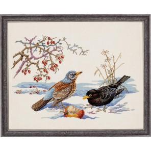 Птицы и яблоко Набор для вышивания Eva Rosenstand 12-543
