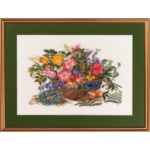 Композиция из цветов Набор для вышивания Eva Rosenstand 14-279