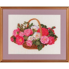 Розы в корзине Набор для вышивания Eva Rosenstand 14-280