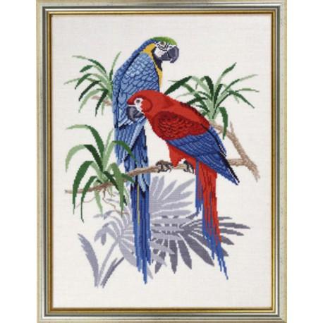 Два попугая Набор для вышивания Eva Rosenstand 12-765