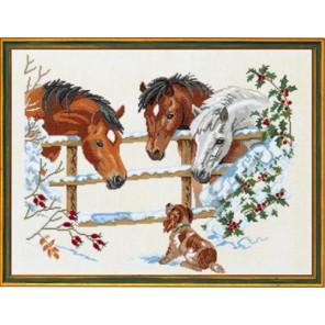 Лошадки и щенок Набор для вышивания Eva Rosenstand 12-741