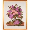 Сирень и розы Набор для вышивания Eva Rosenstand