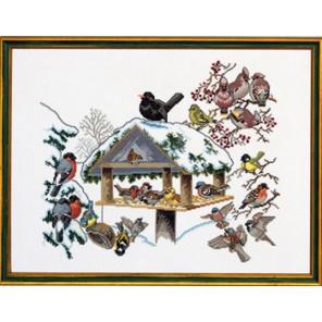 Птичья кормушка Набор для вышивания Eva Rosenstand 12-352