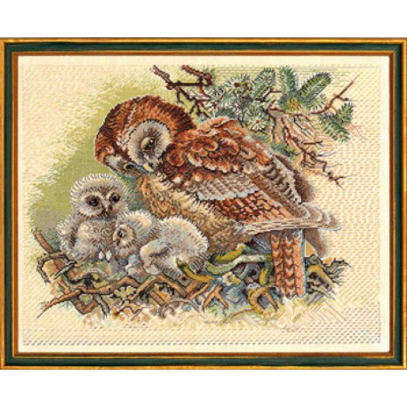 Сова и птенцы Набор для вышивания Eva Rosenstand 12-523