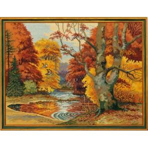 Золотая осень (Лесное озеро) Набор для вышивания Eva Rosenstand 12-496