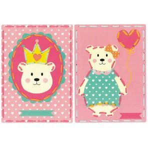 Мишка и Мишка с шариком на перфорированной бумаге Набор для вышивания Vervaco PN-0157036