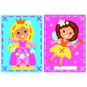 Фея и принцессана перфорированной бумаге Набор для вышивания Vervaco PN-0157764