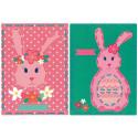 Кролики на перфорированной бумаге Набор для вышивания Vervaco