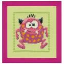 Розовый Монстр II Набор для вышивания Vervaco