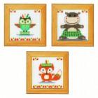 Милые животные Набор для вышивания Vervaco PN-0155680