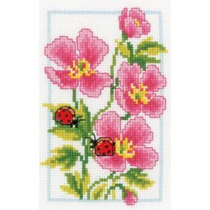 Розовая герань Набор для вышивания Vervaco PN-0146886