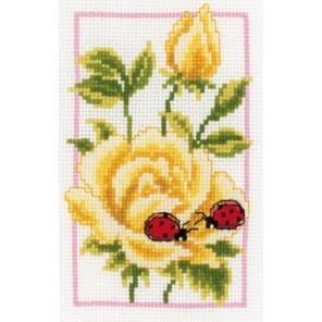 Жёлтые розы Набор для вышивания Vervaco PN-0146887