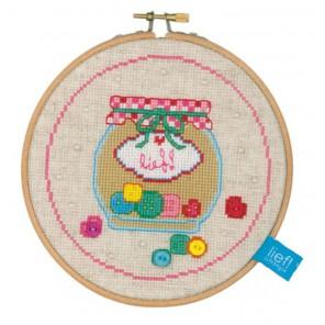 с пяльцами Пуговицы Набор для вышивания Vervaco PN-0150923