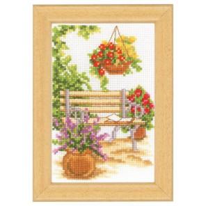 У садовой скамейки Набор для вышивания Vervaco PN-0003719