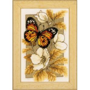Бабочка на цветах I Набор для вышивания Vervaco PN-0144770