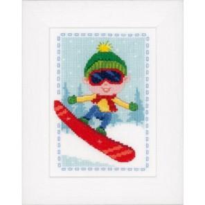 Сноубордист Набор для вышивания Vervaco PN-0147937