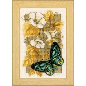 Бабочка на цветах II Набор для вышивания Vervaco PN-0144802