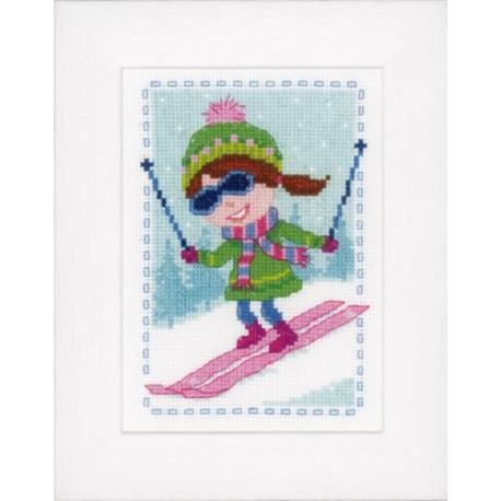 Лыжница Набор для вышивания Vervaco PN-0147936
