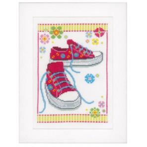 Розовые кроссовки Набор для вышивания Vervaco PN-0149909