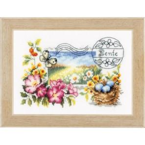 Весенняя почтовая марка Набор для вышивания Vervaco PN-0148641