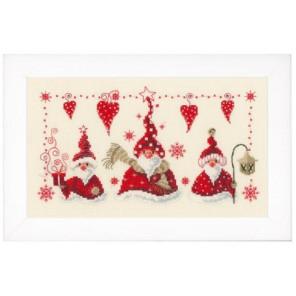 Веселые деды морозы Набор для вышивания Vervaco PN-0148065